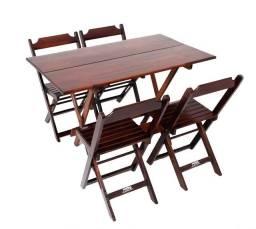 Jogo de mesa com 4 cadeiras 1,20X70