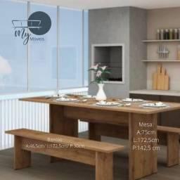 Conjunto mesa com bancos ideal para sua área externa - Mega saldão - Frete grátis para BH