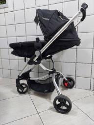 Carrinho Kiddo Eclise + Bebê Conforto + Base Para Carro