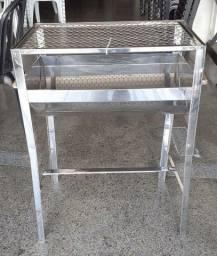 Churrasqueira Portátil Inox - 60x40