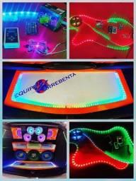 Central digital AJK Com Fita Led RGB Com 5 Metros ( ritmo da música )