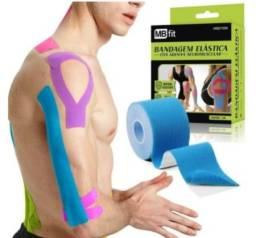 Bandagem Elástica Fita Kinesio Fisioterapia Alivia a Dor Lesão Muscular 5cm X 5m(102)