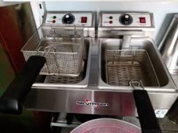 Fritadeira 2 cubas skymsen