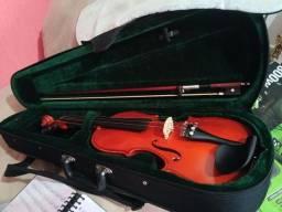 Violino Michael 3/4 Excelente com breu, estojo e arco