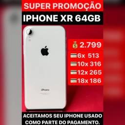 iPhone XR 64gb, aceitamos seu iPhone usado como parte do pagamento.