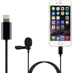 Microfone de lapela iPhones Lightning Adaptador 1.5m Cabo