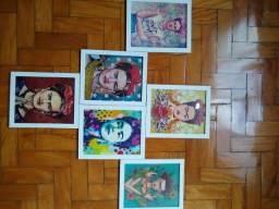 Quadros caricatura Frida Kahlo