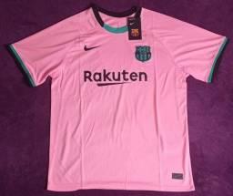Camisa do Barcelona rosa (disponível: G)