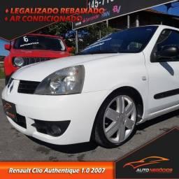 Renault Clio Authentique 1.0 8v 2007 Legalizado