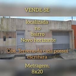 VENDE-SE LINDA CASA NO BAIRRO NOVO HORIZONTE