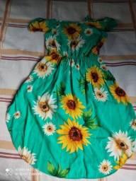 Macaquinho verde floral