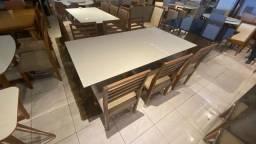 Título do anúncio: Mesa toda de madeira maciça de 6 lugares nova