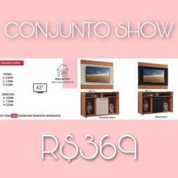 Conjunto show painel para TV e rack painel para TV e rack juntos