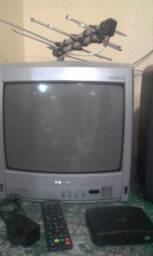 Tv conversor e antena