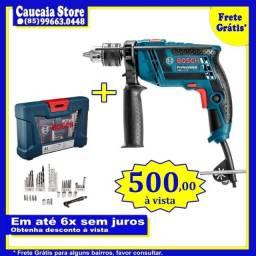 Furadeira Bosch 650W c/ Kit Bosch 41 peças