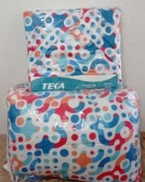 Jogo de cama casal TEKA 200 fios com 8 peças. Várias estampas!