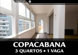 Apto de 182m² c/ 3 Qtos e 1 Vaga em Copacabana