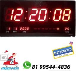 Relógio De Parede 46cm Led Digital Temporizador, Calendário e Alarme só zap