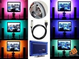 Fita LED 5050 Rgb Tv Monitor Pc Black USB 5v