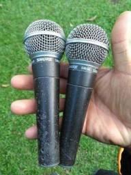 Oportunidade - Microfones com fio Shure SM58 Beta Original!
