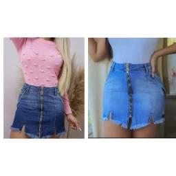 moda jeans Saias midi e mini Saias