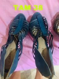 Sapatos femininos tam 37 e 38 usados