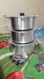 Panela tachos leiteira tijelas todas de Alumínio