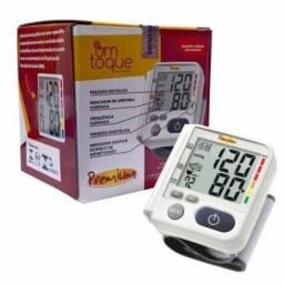 Medidor de pressão de pulso Original + certificação Inmetro + pilhas, aproveite