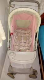 Carrinho de bebê feminino galzerano rosa