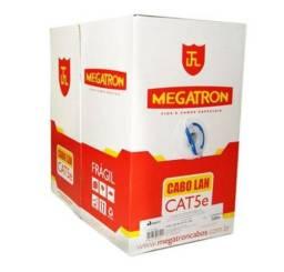 Cabo De Rede Megatron 4pares Cat5e Cx.305metros Azul 100% Cobre Anatel