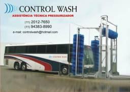 Máquina cf fixa de lavar ônibus 3 escovas