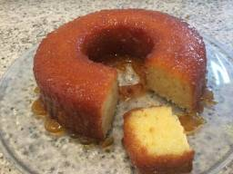 Pudim e bolo de macaxeira