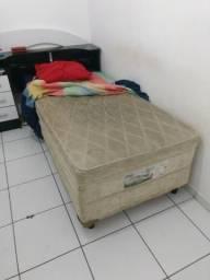Cama box de solteiro com comoda de 3 gavetas