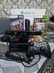 Vendo xbox360 + kinect + jogos