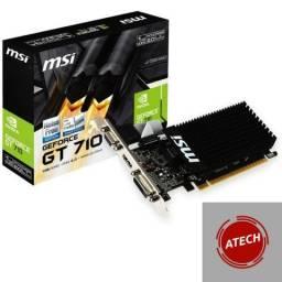 Placa de vídeo MSI nvidia Geforce GT 710 1GB, ddr3, 64 bits lacrada