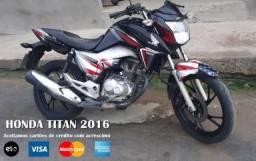 Titan 160 modelo 2016 aceitamos cartões IPVA só 2020 ja vai trasnferida - 2016
