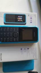 Telefone Microsoft Nokia 105 s/carregador