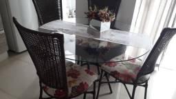 Jogo mesa c cadeiras