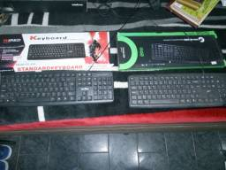 Kit 2 teclado usb