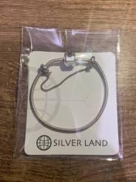 Pulseira berloques silverland
