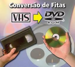 Conversão FIta VHS para DVD ou arquivo digital
