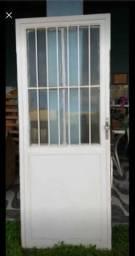 Porta de vidro e ferro
