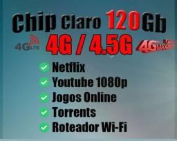 Chip Internet Móvel 120Gb