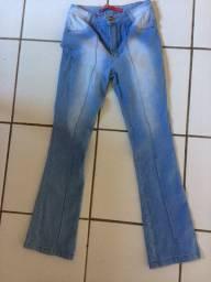 Calça jeans 44 flare