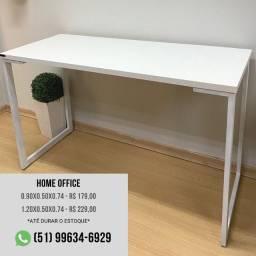 Mesa Home Office Branca - escrivaninha