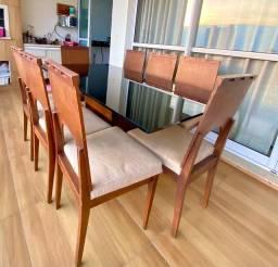 Mesa de jantar c/08 cadeiras comprada na Ipê móveis!!!
