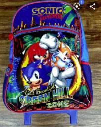 Mochila de rodinhas do Sonic