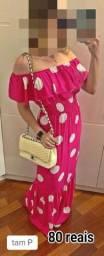 Vestido longo ciganinha P