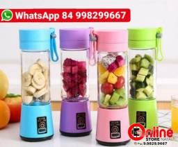 Juice Cup (COM 6 LAMINAS) Mini Liquidificador Portátil Recarregável