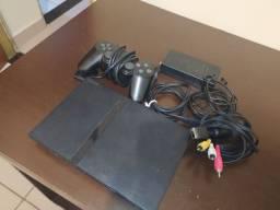 PlayStation 2. Console (com todos os cabos)+ controle original